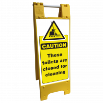 Toilets Closed for Cleaning Heavy Duty Floor Stand
