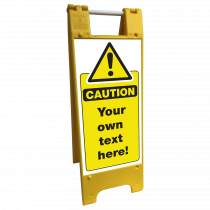 Safety Sign Floor Stand Large | Own text