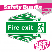 Final Exit - British Standard Fire Exit Sign - Bundle Pack