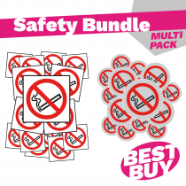 No Smoking Sign & Disc - Bundle Pack