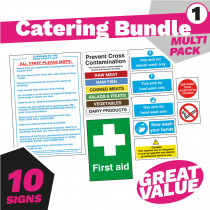 Catering Health and Safety Signs