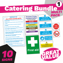 Junior Kitchen & Catering Safety Sign Pack