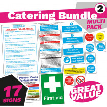Health and Safety Catering Signs
