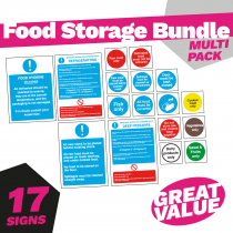 Food Storage Catering Safety Sign Pack