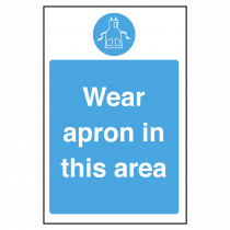 Wear an Apron in this area Notice