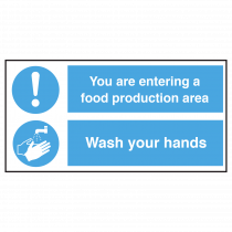Entering Food Production Area, Wash Hands Sign