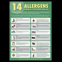 Food Allergen Poster. Staff Guidance. A3 size