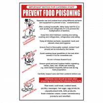 Reduce the risk of food poisioning guidance notice