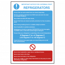 Refrigerators Temperature Guidelines Notice