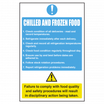 Chilled and Frozen Food Delivery Compliance Notice