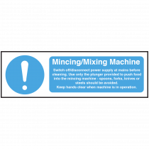 Mincing / Mixing Machine equipment safety Notice