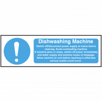 Dishwashing Machine equipment safety Notice