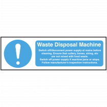 Waste Disposal Machine equipment safety Notice