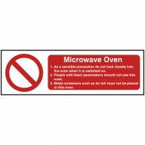 Microwave Oven Equipment Safety Notice