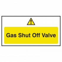 Gas Shut Off Valve Notice