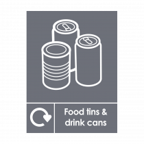 Food Tins and Drink Cans Recycling Sign