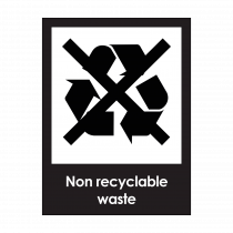 Non-Recyclable Waste Sign
