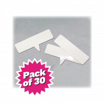 Write on-Wipe off White PVC Price Tickets. Pkt 30