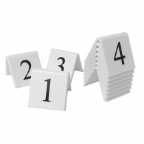 Table Tent Number Sets. (Black / White)