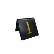 Replacement table tent numbers. (Gold / Black)