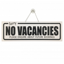 Vacancies / No Vacancies Hanging Window Sign