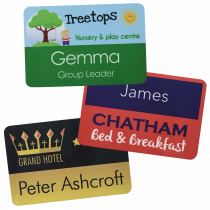 Large Staff Name Badges - 76 x 50mm