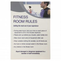 Fitness Room Rules Notice