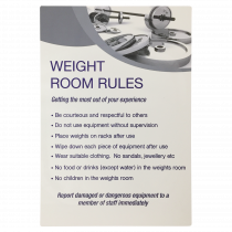Weight Room Rules Notice
