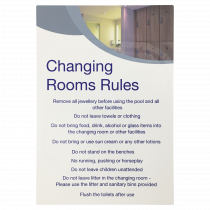 Changing Room Rules Notice