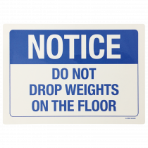 Don't Drop Weights Notice