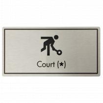 Court (Your Number) Door Sign