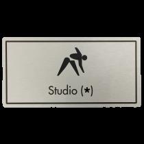 Studio (Your Number) Door Sign