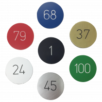 Coloured Number Discs