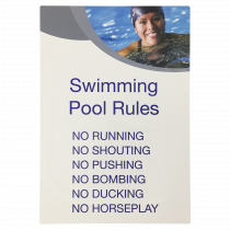 Swimming Pool Bullet Point Rules Notice