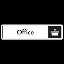 Office Door Sign - Black on White