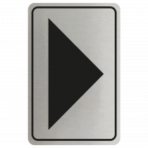 Large Arrow Door Sign - Black on Silver
