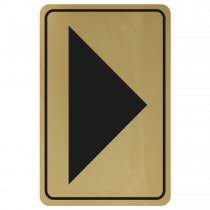 Large Arrow Door Sign - Black on Gold