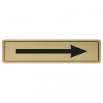 Arrow Door Sign - Black on Gold