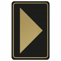 Large Arrow Door Sign - Gold on Black