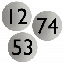 Numbered Stainless Steel Disc