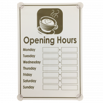 Café Shop Business Hours open and closed window hanging sign