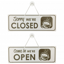 Café Open / Closed sign