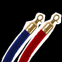 Gold Clip Velvet Barrier Ropes