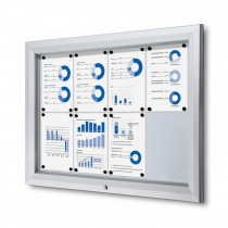 Magnetic Dry Wipe Wall Mounted Premium Lockable Notice Boards
