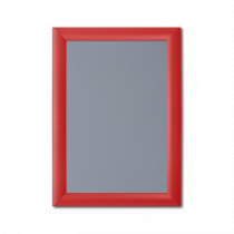 Red 25mm Poster Display Snap Frames