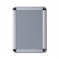Chrome Cornered 25mm Poster Display Snap Frames