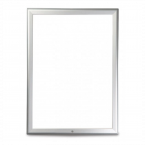 Silver 32mm Lockable Poster Display Snap Frames