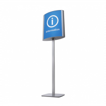 Freestanding Double Sided Curved Signpoints