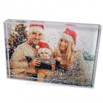"6 x 4"" Acrylic Glitter Photo Block - Bring Your Images to Life"