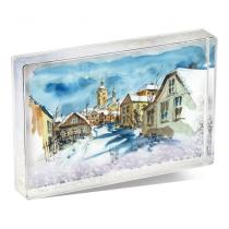 Snow Shaker Block Photo Display Holder